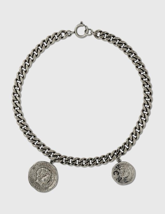Acne Studios Abina Necklace Antique Silver Women