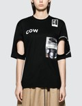 Burberry Cut Off Cow Short Sleeve T-shirt Picture