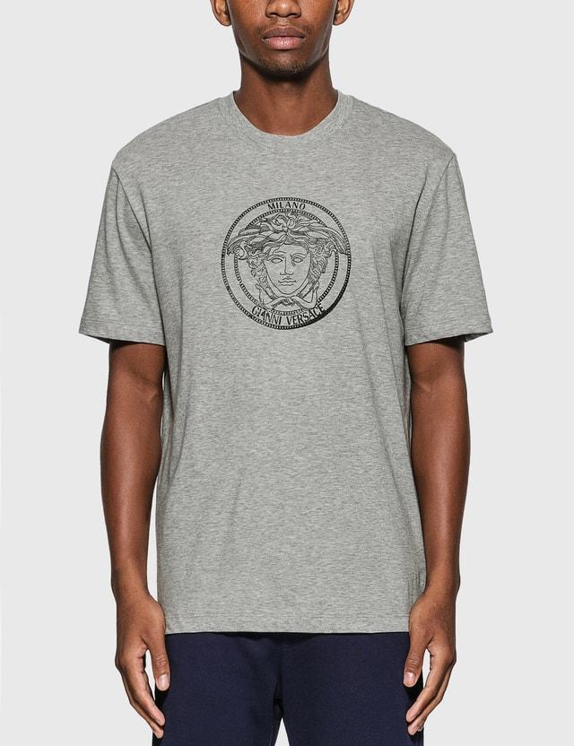 Versace Medusa T-Shirt Grigio Chiaro Melange Men