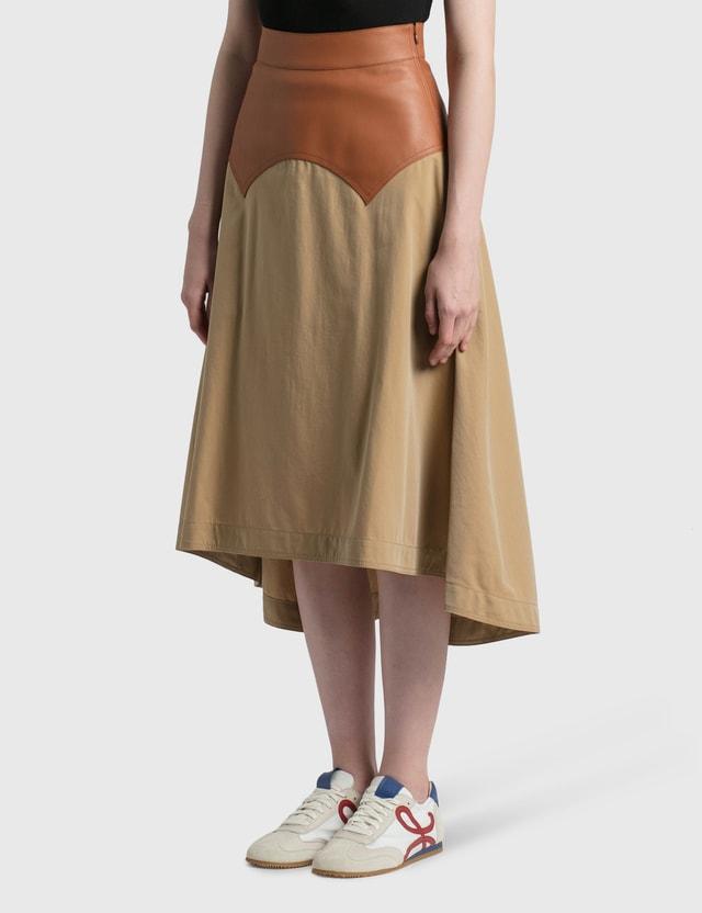 Loewe Long Obi Skirt Beige/tan Women