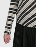 Loewe Bias Striped Cotton High Neck Top