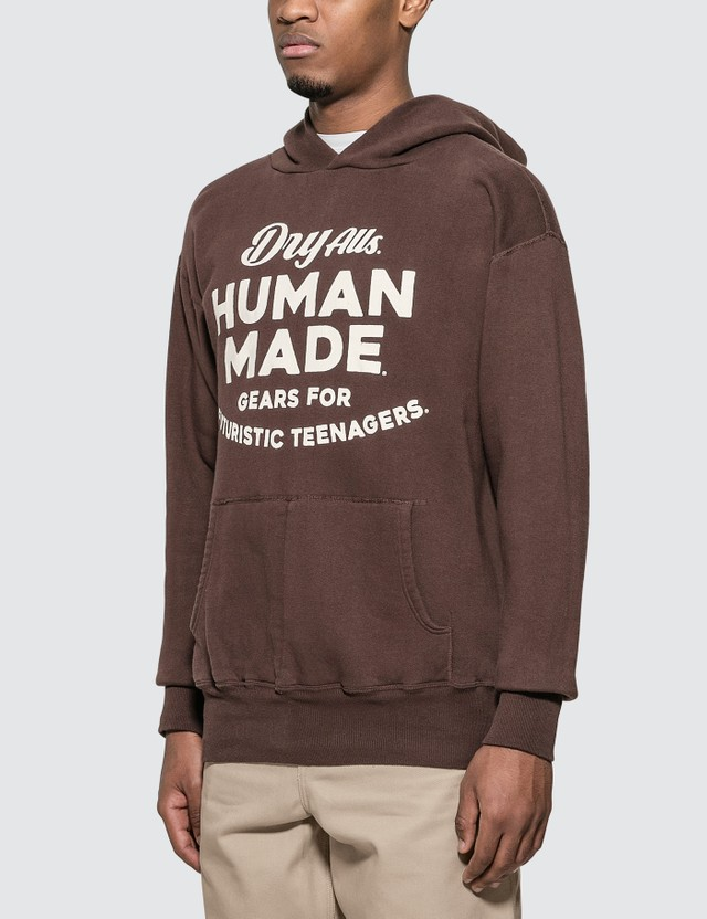 Human Made Hooded Sweatshirt Brown Men