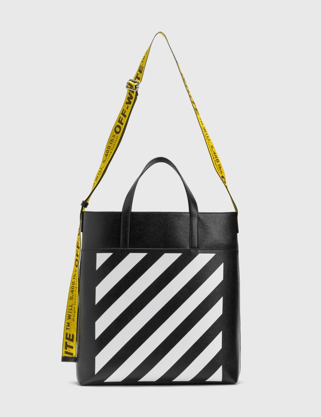 Off-White Diag Leather Tote Bag