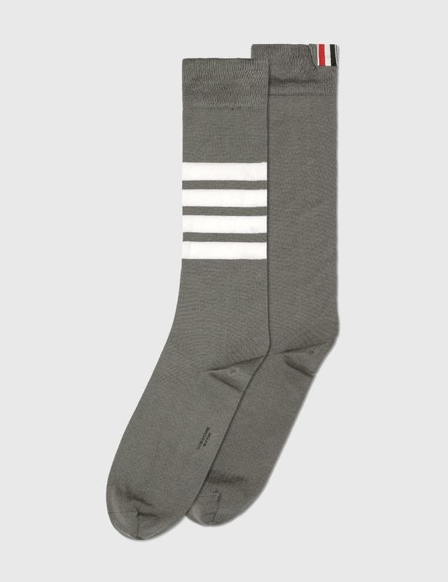 Thom Browne Over The Calf Socks Med Grey Men