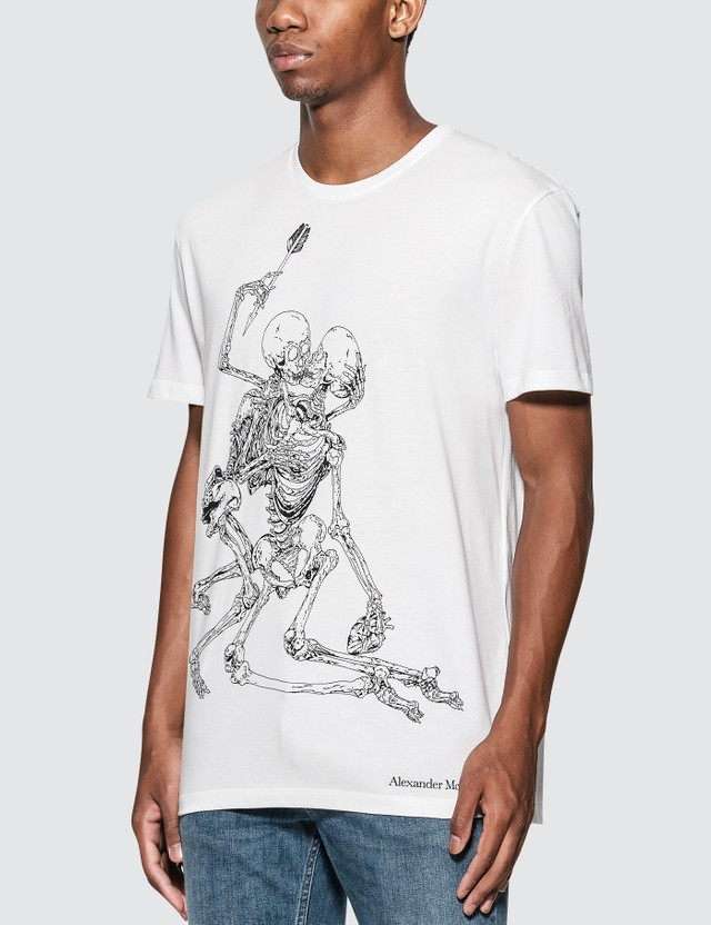 Alexander McQueen Skeletons Print T-Shirt White/mix Men