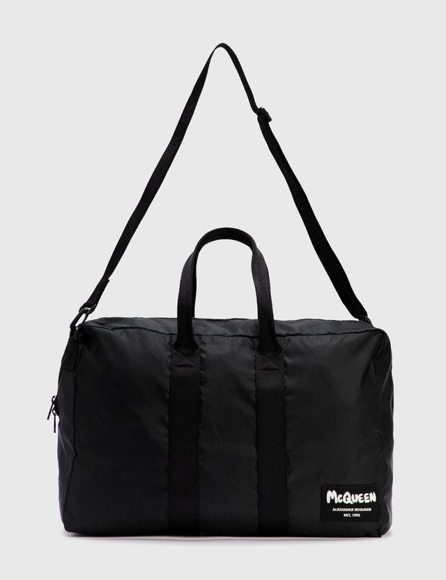 Alexander McQueen Zipped Duffle Bag Black/black Off W Men