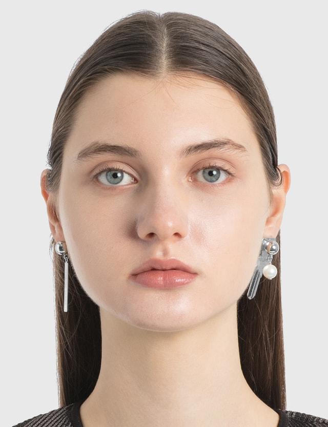 Marine Serre Keys Earrings 11 Silver Women