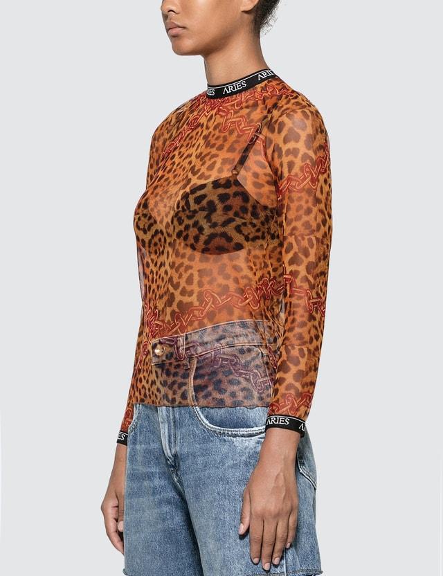 Aries Leopard Print Mesh Top