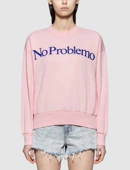 Aries No Problemo Flocked Crew Sweatshirt
