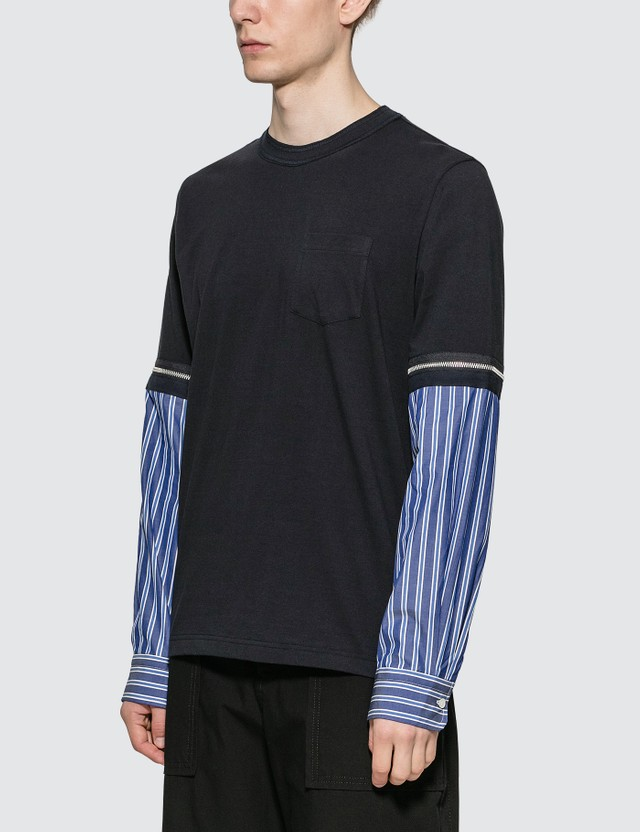 Sacai Zipped Sleeves T-shirt