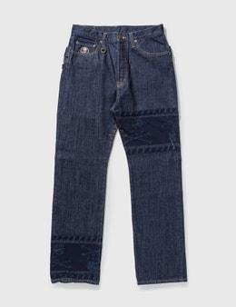 Mastermind Japan Mastermind Japan Unwashed Back Double Waist Jeans