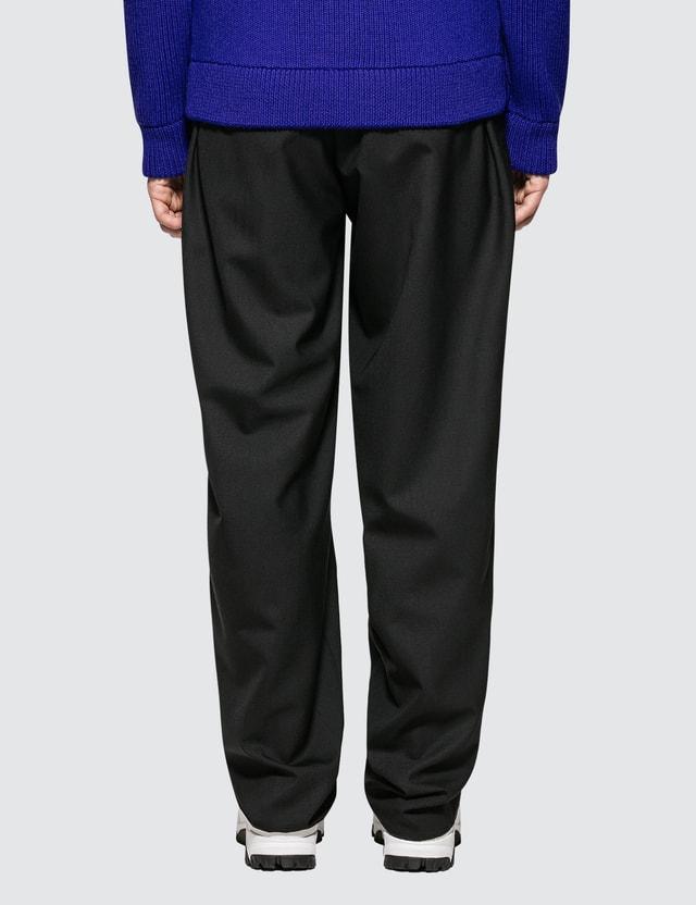 Maison Margiela Wideleg Black Pants Two Ply Wool