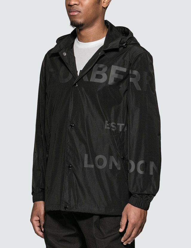 Burberry Horseferry Print Jacket With Removable Hood