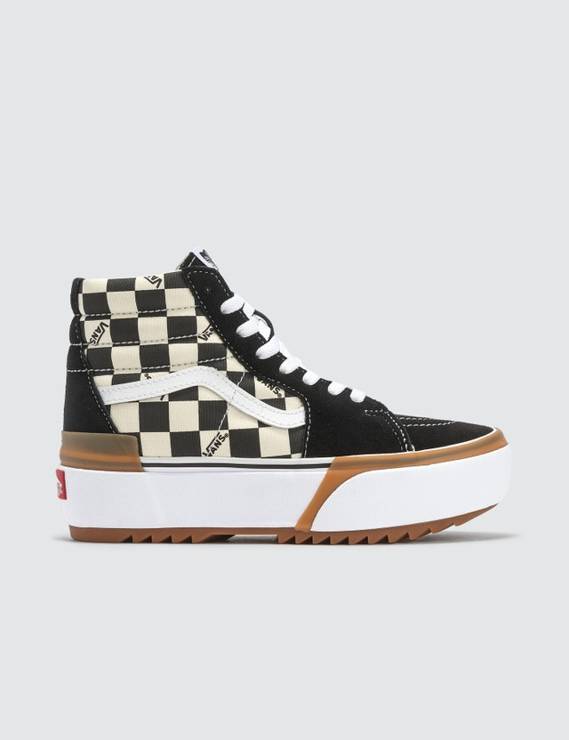 Vans SK8-Hi Stacked (checkerboard) Multi/true White Women