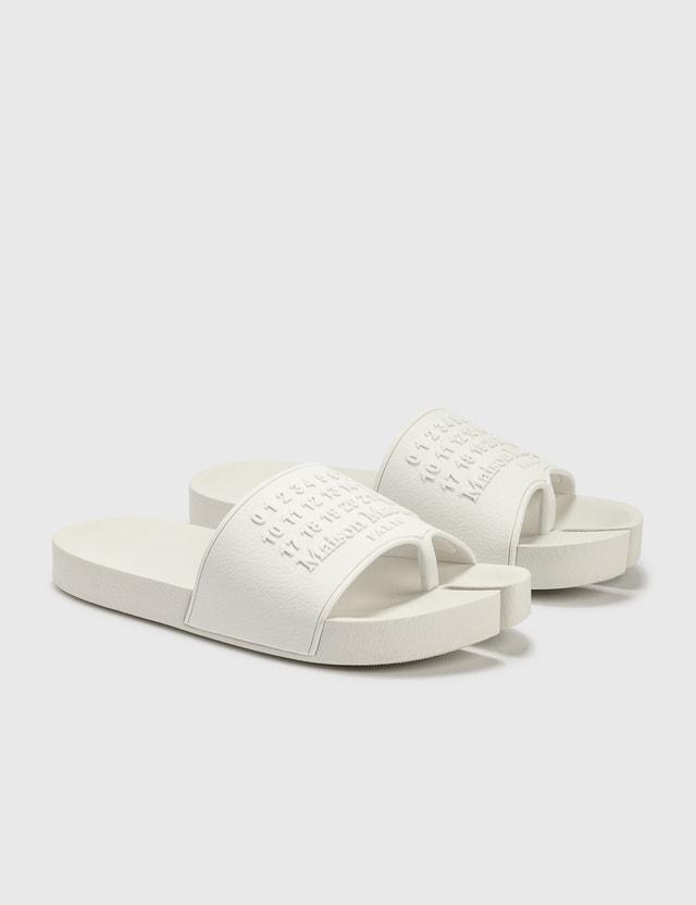 Maison Margiela Tabi Slipers Blanc Women