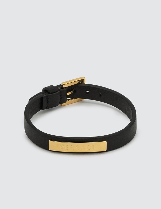 Versace Leather Logo Bracelet