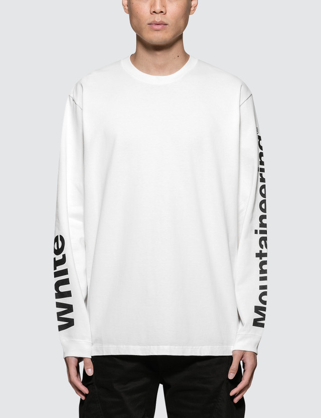 White Mountaineering Logo Printed Sleeves Sweatshirt