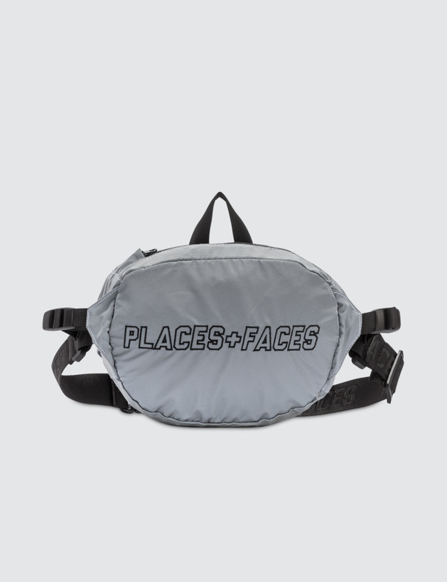 Places + Faces Waist Bag Silver Unisex