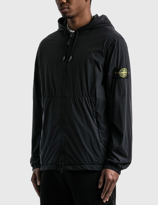 Stone Island Drawstring Hooded Jacket Black  Men