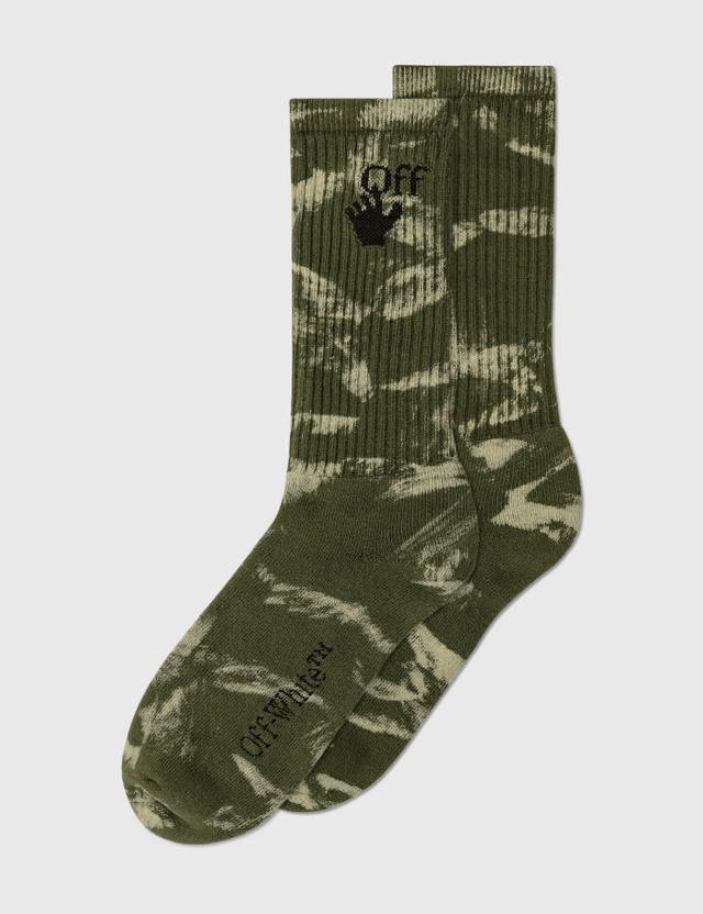 Off-White Hand Off Mid Vintage Socks Green Men