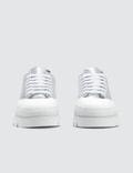 MM6 Maison Margiela Silver & White Platform Sneakers
