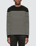 Saint Laurent Wool Cotton Striped Sweater 사진