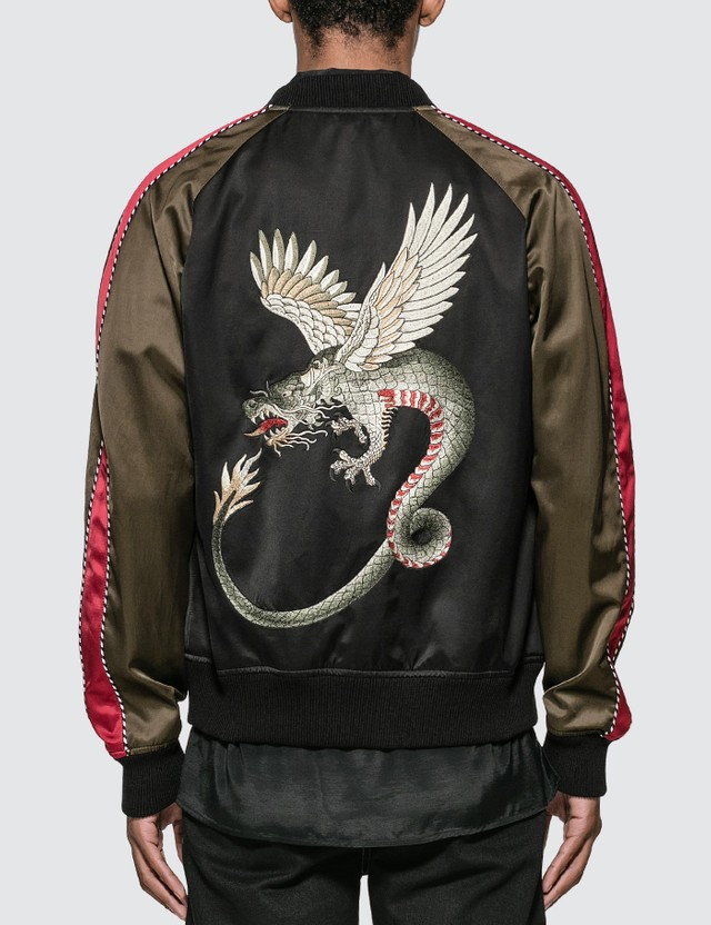 Alexander McQueen Dragon Embroidery Bomber Jacket