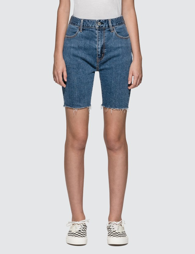 X-Girl Biker Denim Shorts