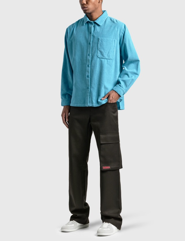 ERL Corduroy Shirt Blue Men