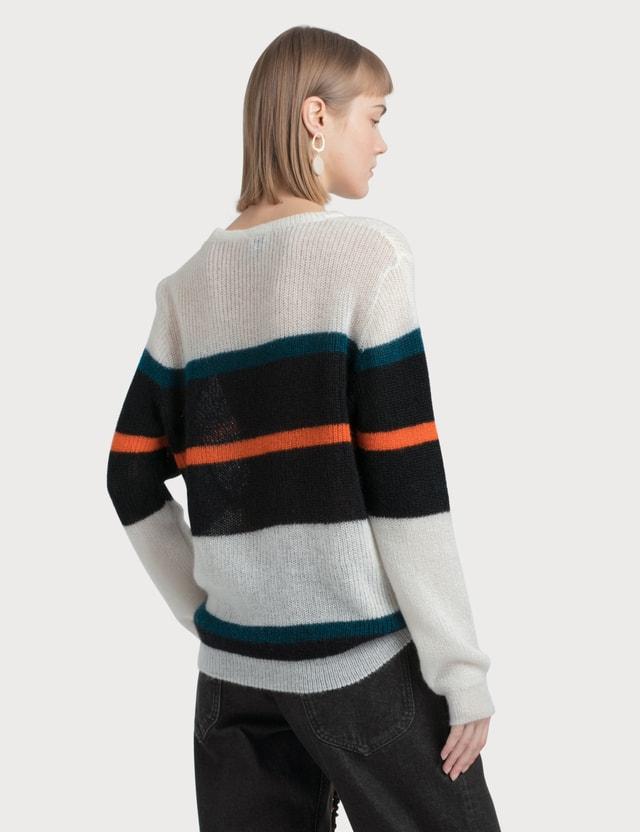 Loewe Stripe Mohair Sweater White Women