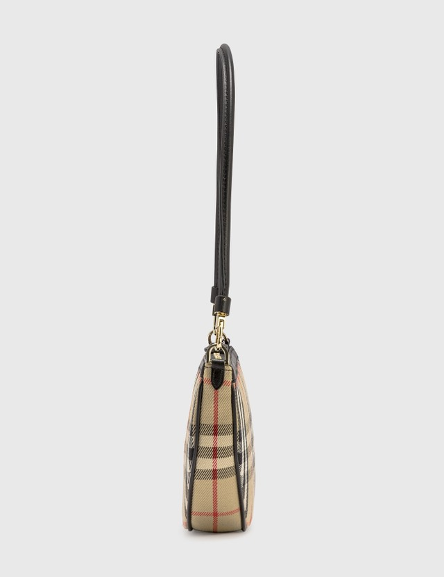Burberry Vintage Check Cotton Olympia Pouch Archive Beige Women