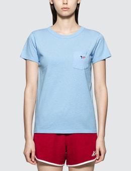 Maison Kitsune Tricolor Fox Head Short Sleeve T-shirt