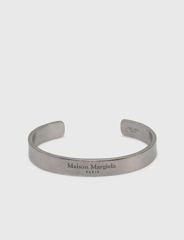 Maison Margiela Logo Bracelet Palladio Semi Polished Women