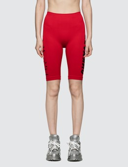Unravel Project Tech Seamless Cycling Legging Red No Col