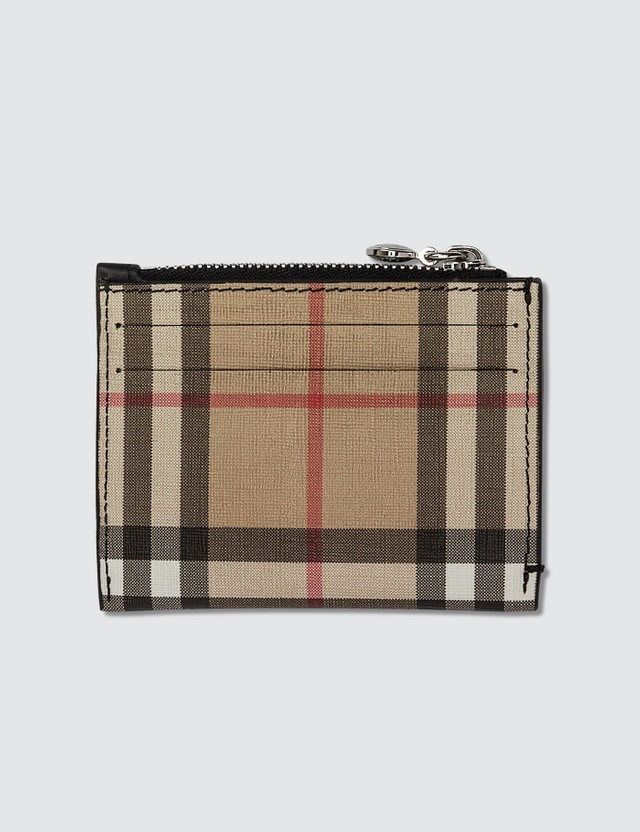 Burberry Vintage Check Zip Card Holder