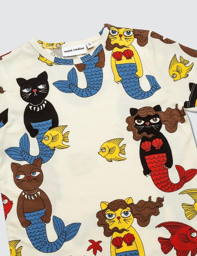Mini Rodini Cat Mermaid Aop Ss Tee