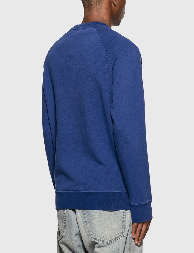 Maison Kitsune 플라워 폭스 패치 스웨트셔츠 Blue Men