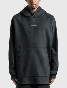 Acne Studios Logo Print Garment Dyed Hoodie