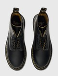 Dr. Martens 1460 Double Stitch Leather Lace Up Boots Black+yellow Smooth Slice Men