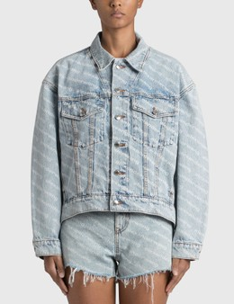 Alexander Wang.T Logo Print Falling Back Jacket