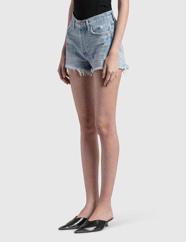AGOLDE Parker Vintage Cut Off Shorts Blue Women