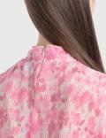 Ganni Pleated Georgette Dress Sweet Lilac Women