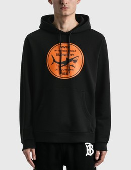 Burberry Shark Graphic Cotton Hoodie