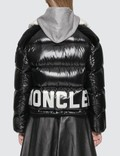 Moncler Down Jacket With White Roll Neck