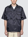 Prada Nylon Utility Pocket Short Sleeve Bowling Shirt Picutre