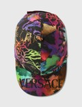 Versace Logo Basketball Cap F.do Nero+stampa Men