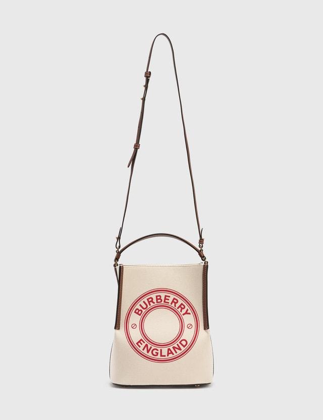 Burberry Small Peggy Bucket Bag Natural/tan/pinkbubb Women
