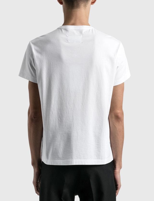Maison Margiela 자수 로고 티셔츠 White Men