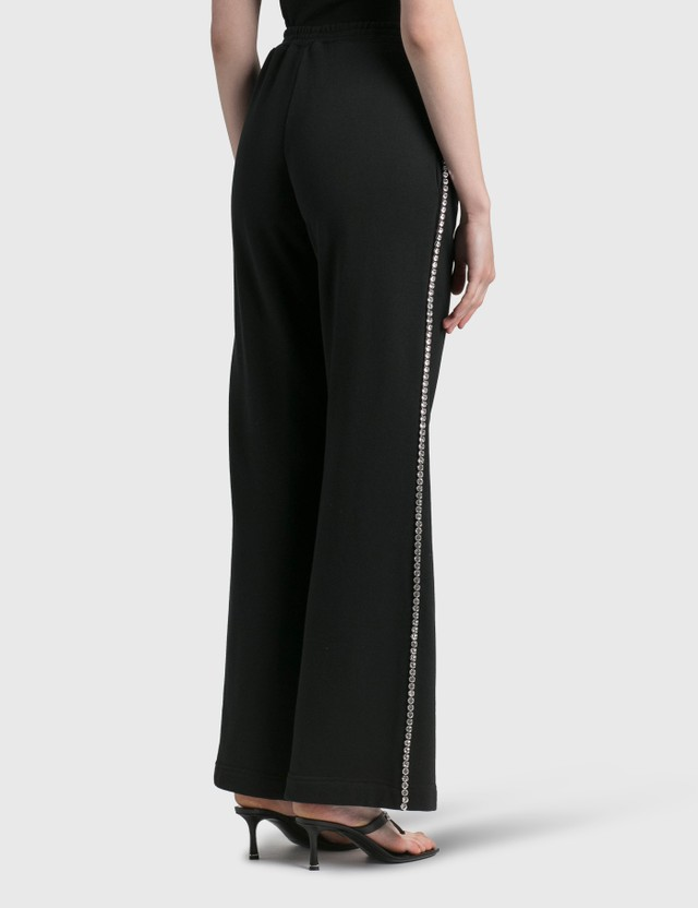 Area Crystal Stitched Track Pant Black Women
