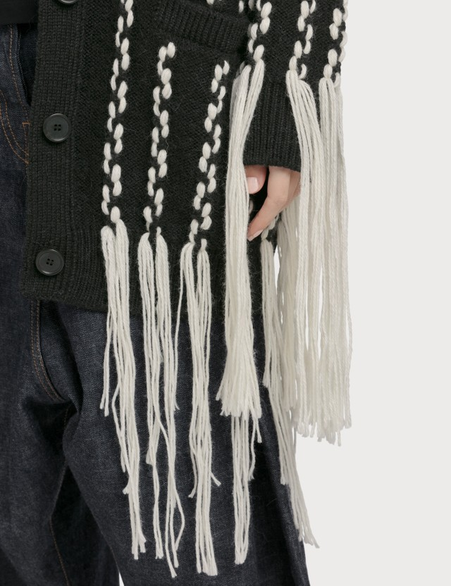 Loewe Woven Fringe Cardigan